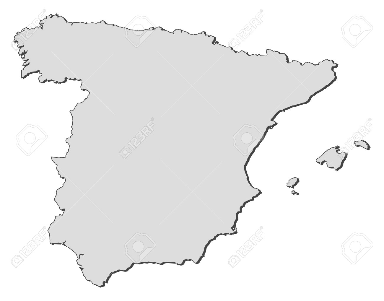 Spain Clipart Map