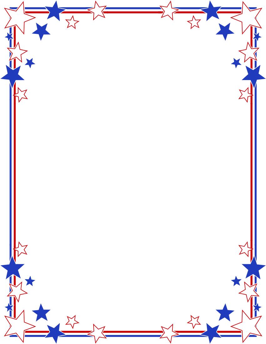 Art Clip Borders Fourth July