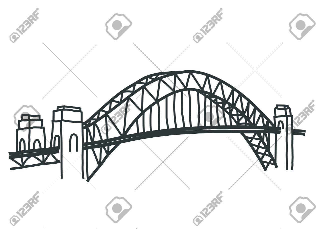 Steel Arch Bridge Clipart
