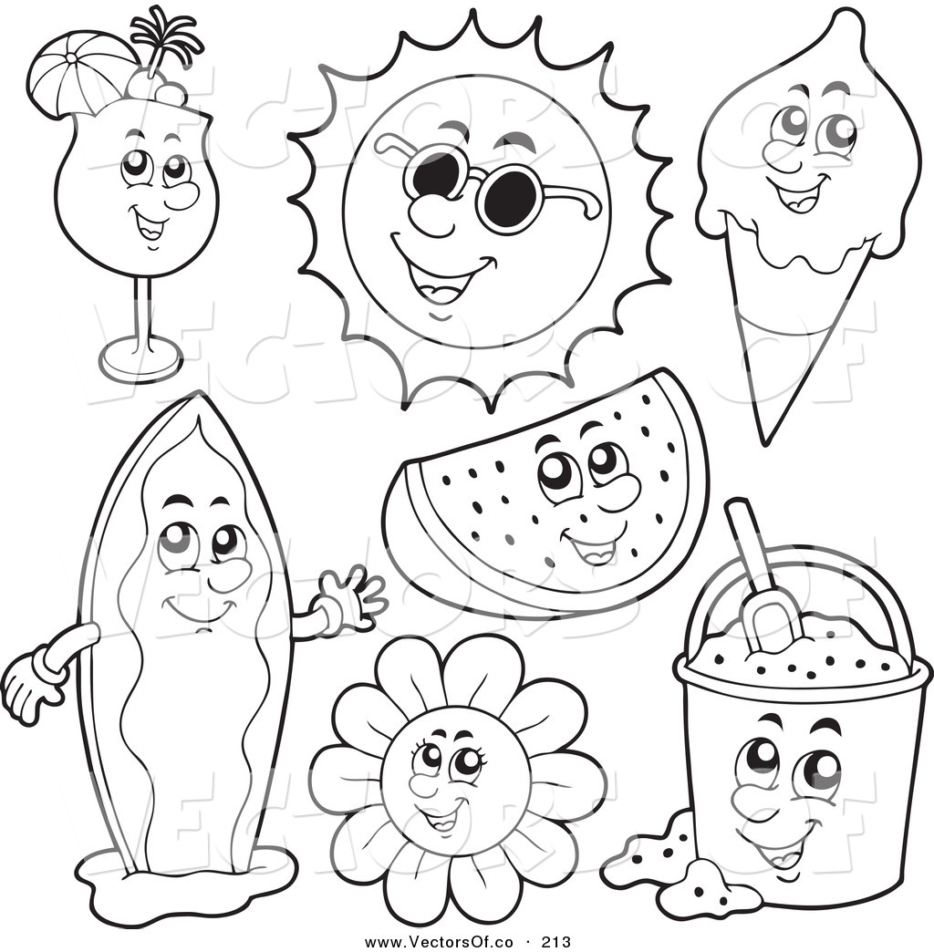 Summer Clipart To Color 20 Free Cliparts