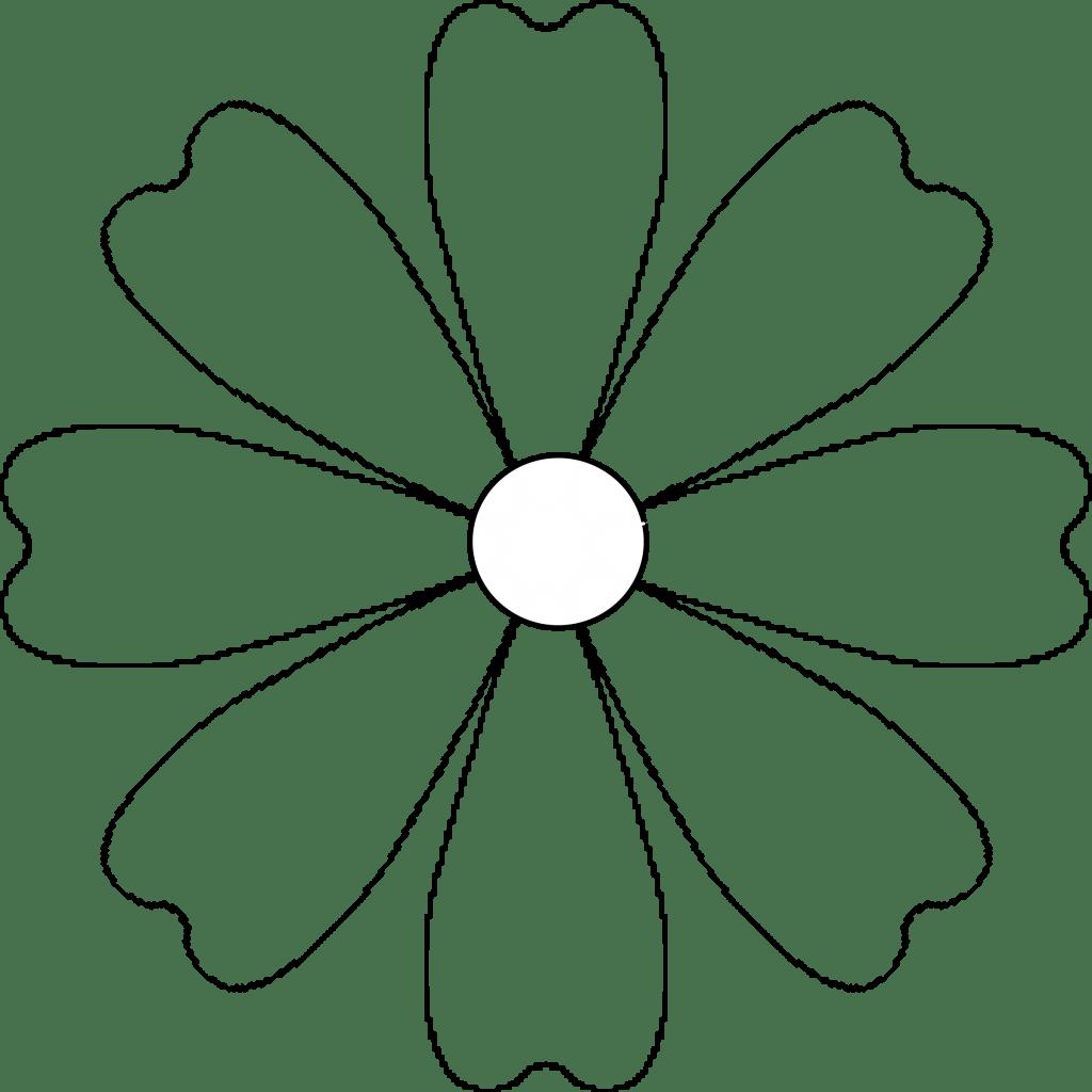Sunflower Petals Clipart Outline