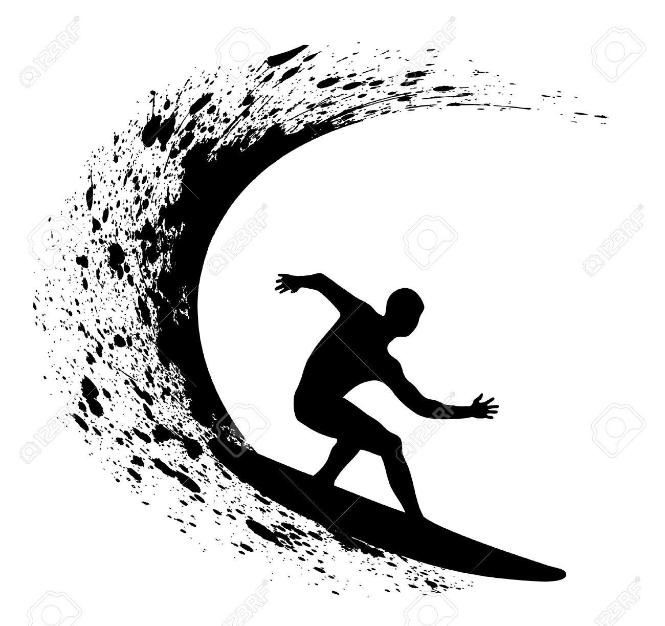 Surfer Clipart Vector