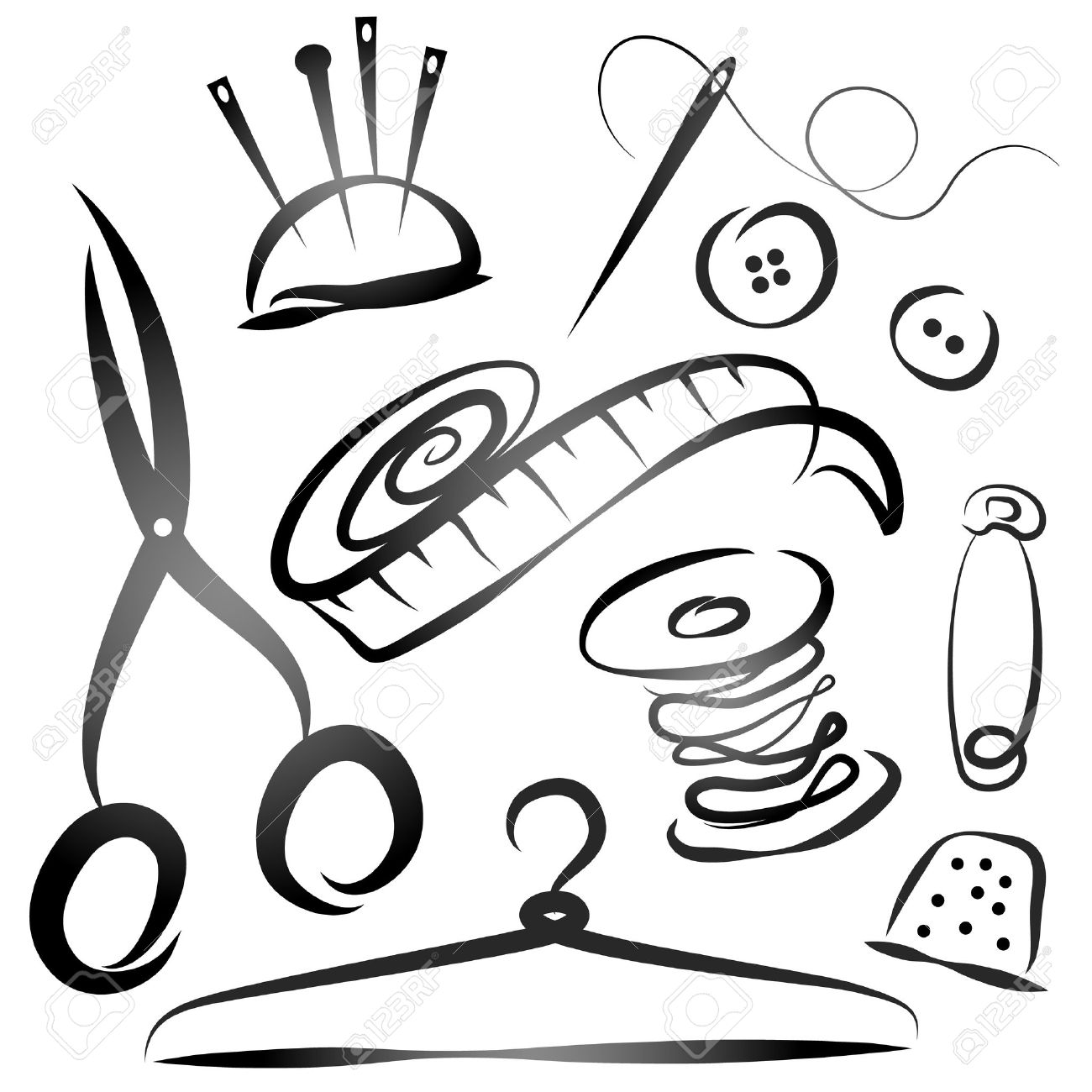 Tailor Tools Clipart