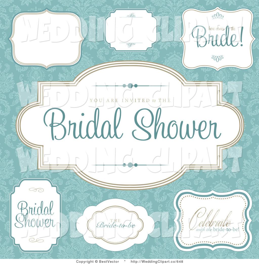 Vintage 1950s Bridal Shower Invitations