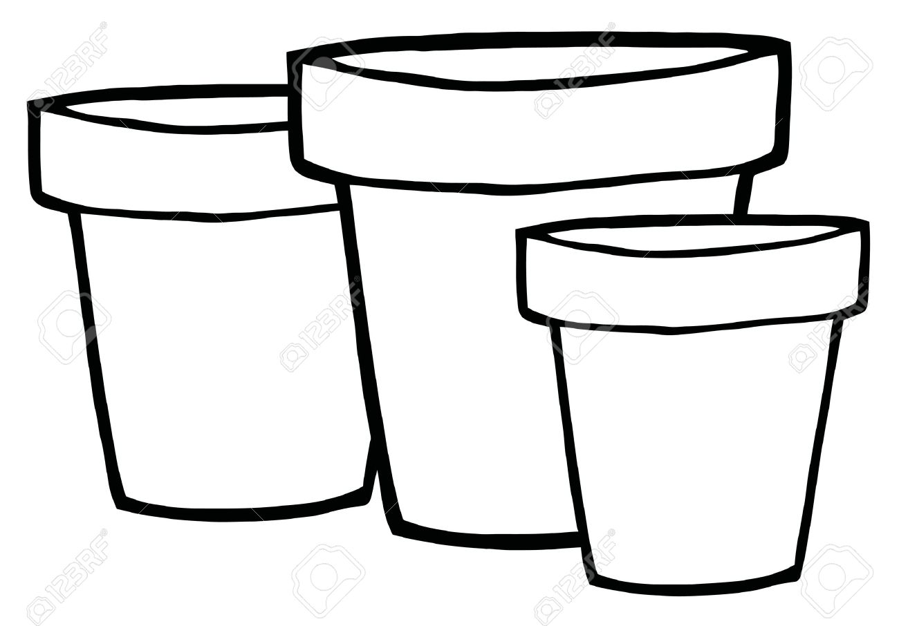 Terracotta Flower Pots Clipart