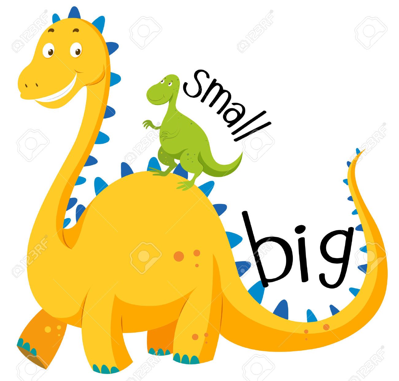 The Big And The Small Clipart