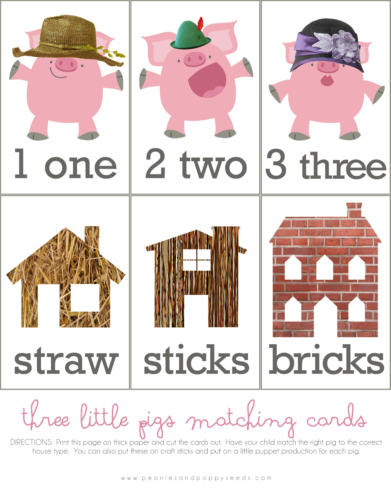 Three Little Pigs House Clipart