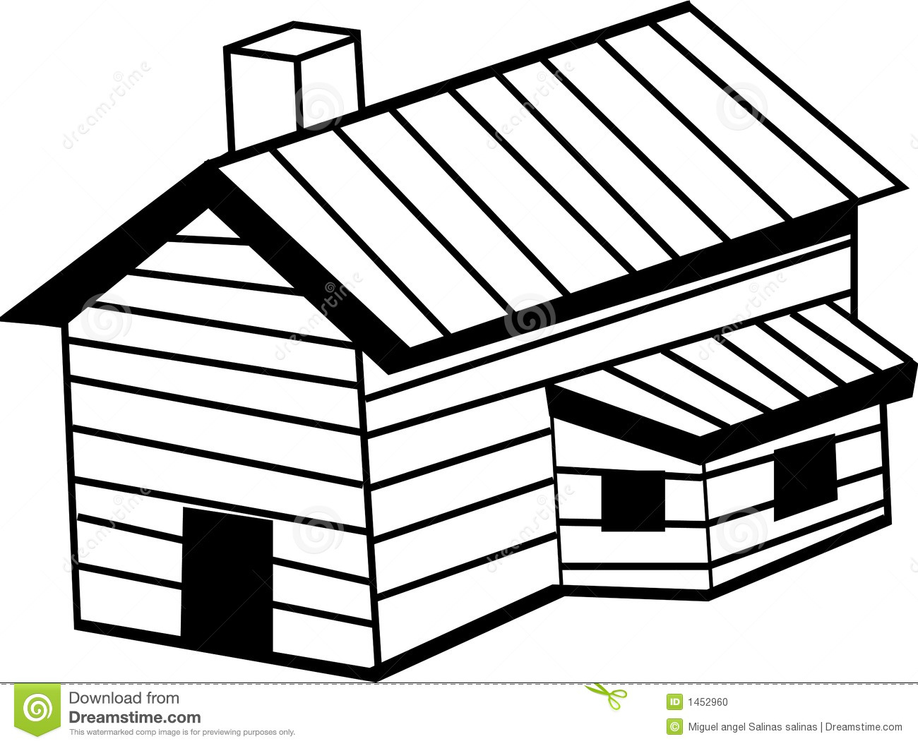 Timber Cottage Clipart