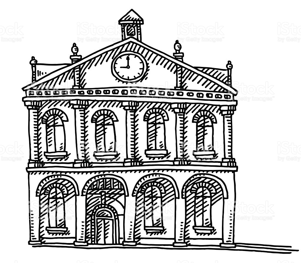 Old Town Hall Clipart
