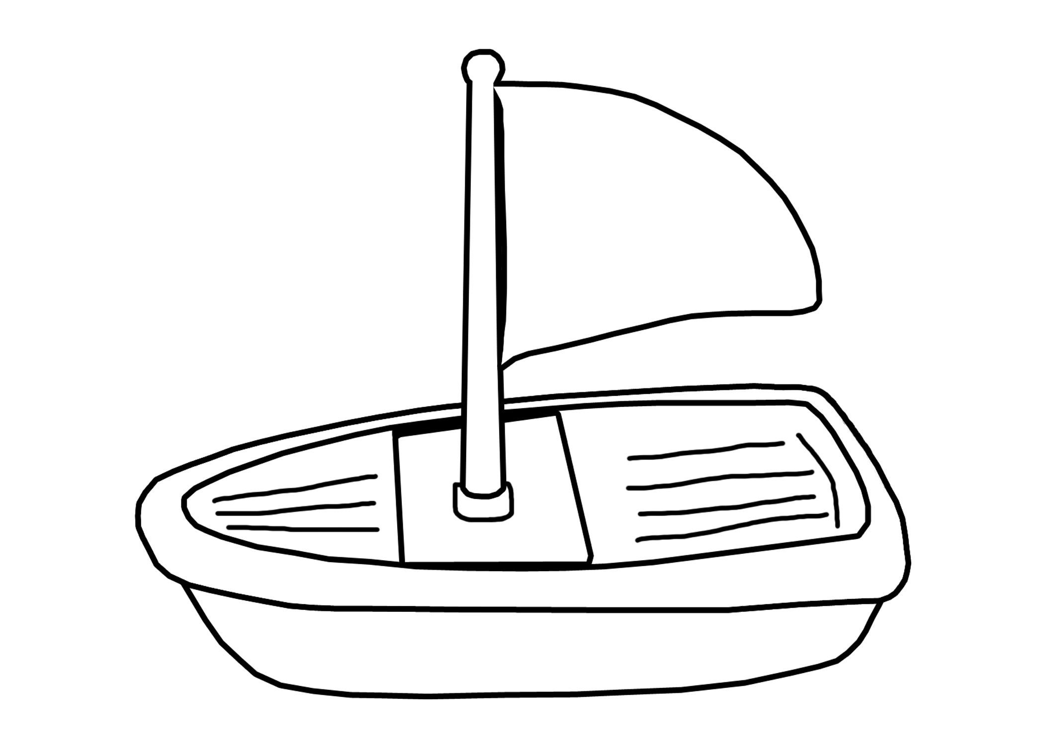 Toy Boat Clipart