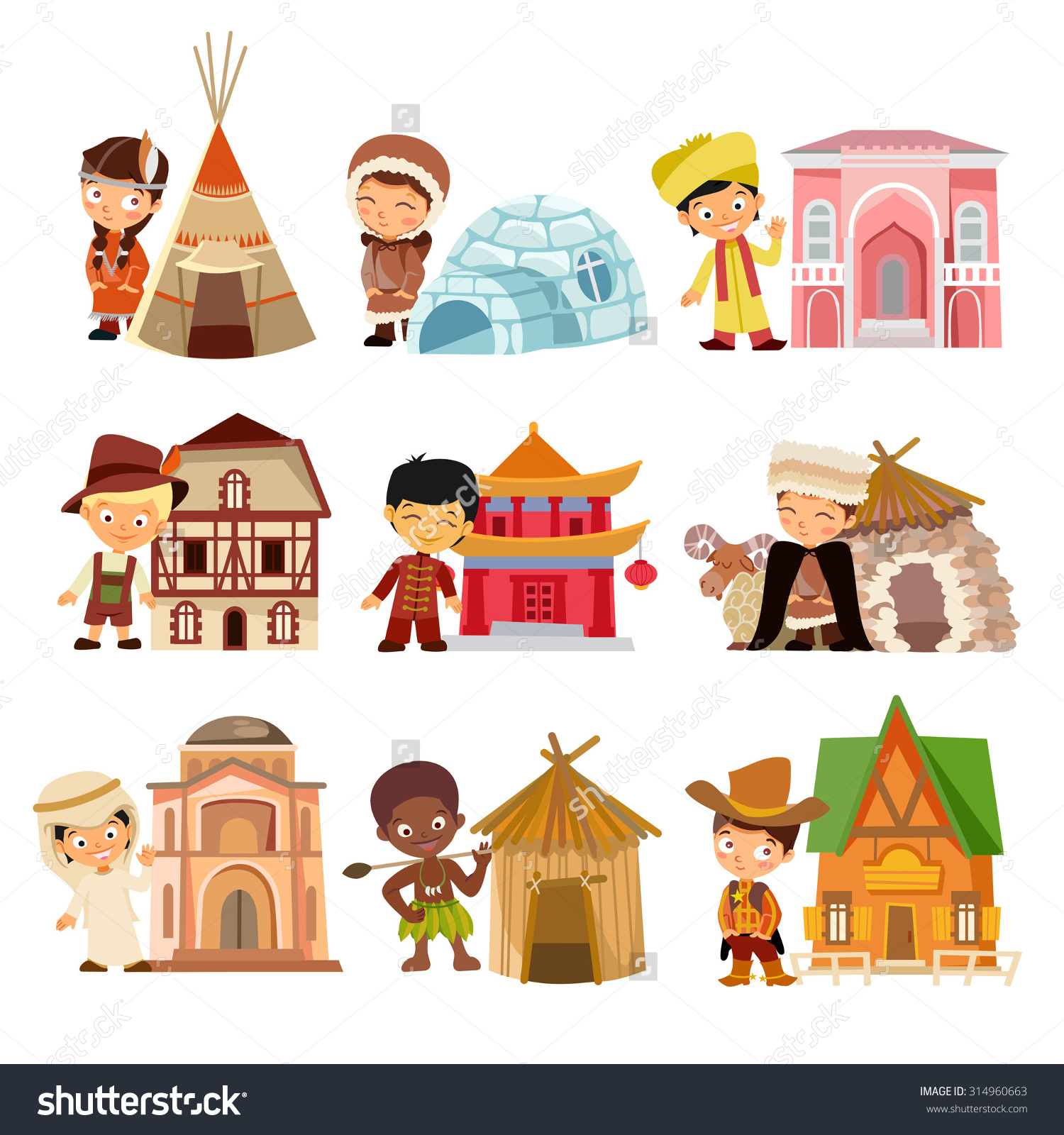 Dwellings Clipart