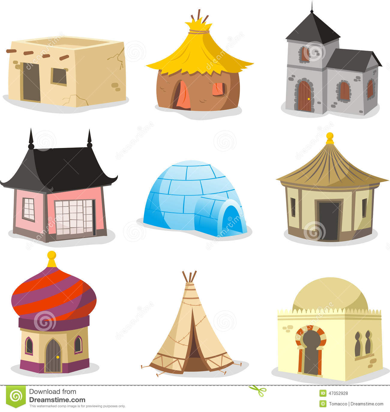 Traditional Housing Clipart