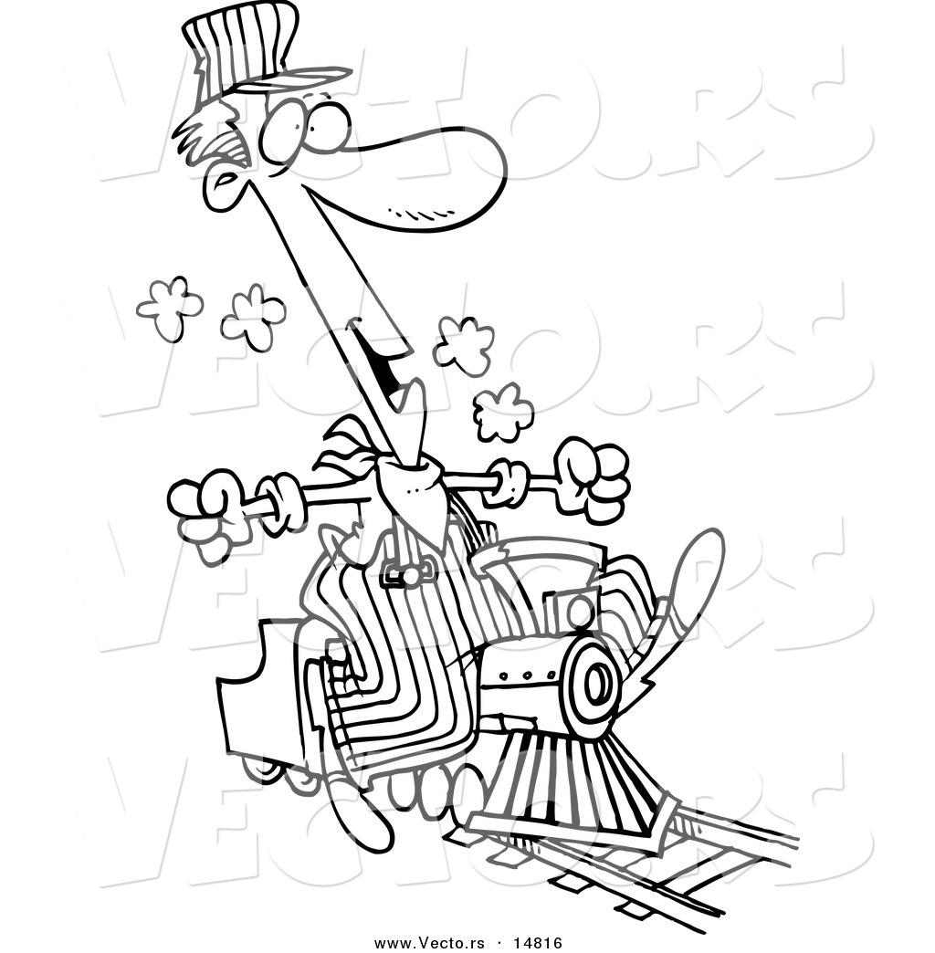 Train Conductor Clipart Black And White 20 Free Cliparts