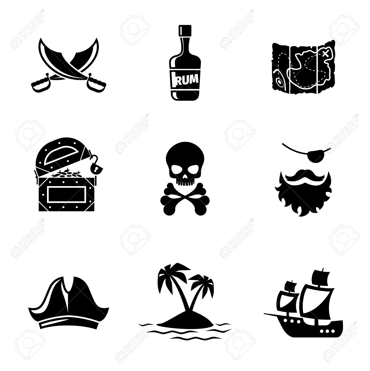 Treasure Map Clipart Silhouette