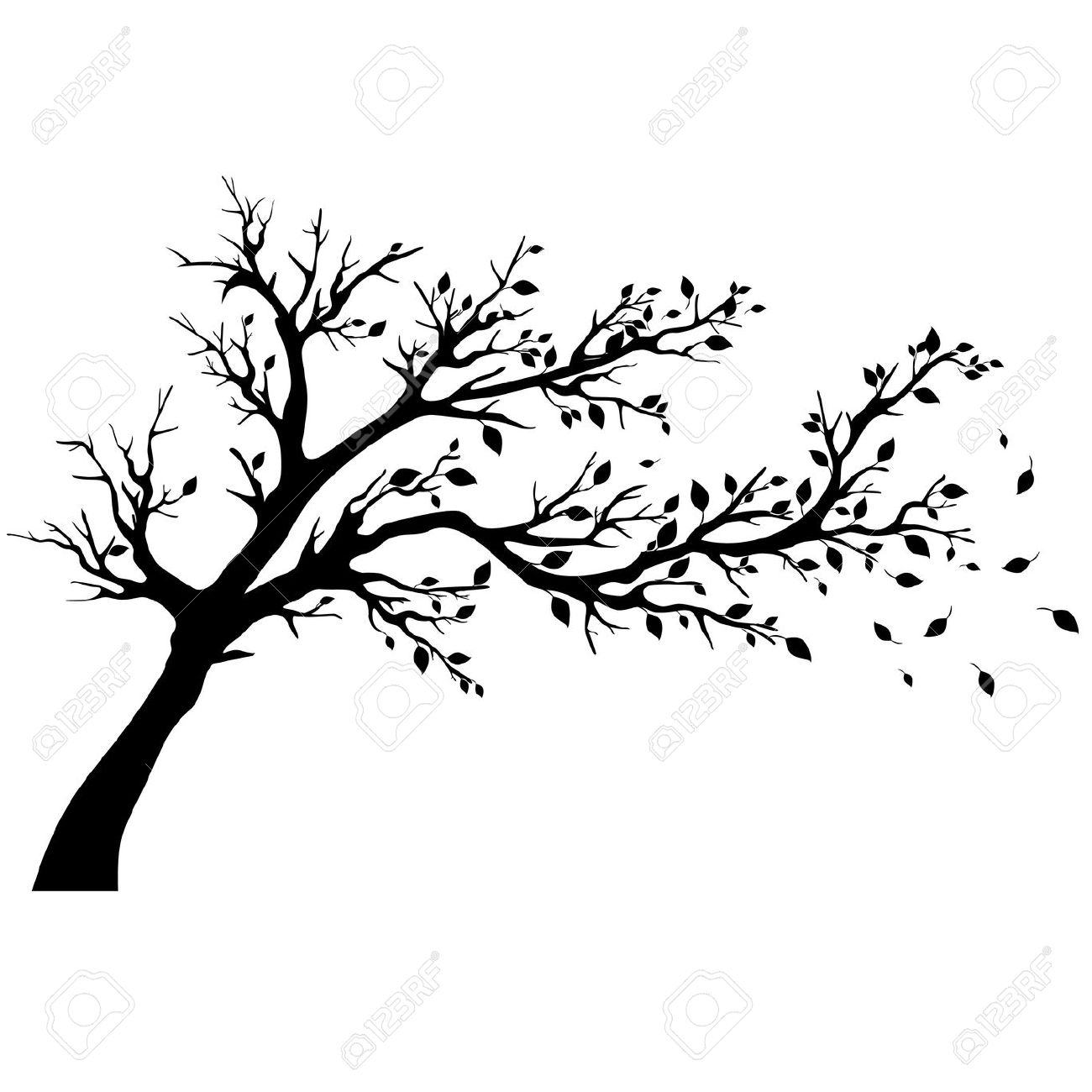 Tree Silhouette Black Clipart