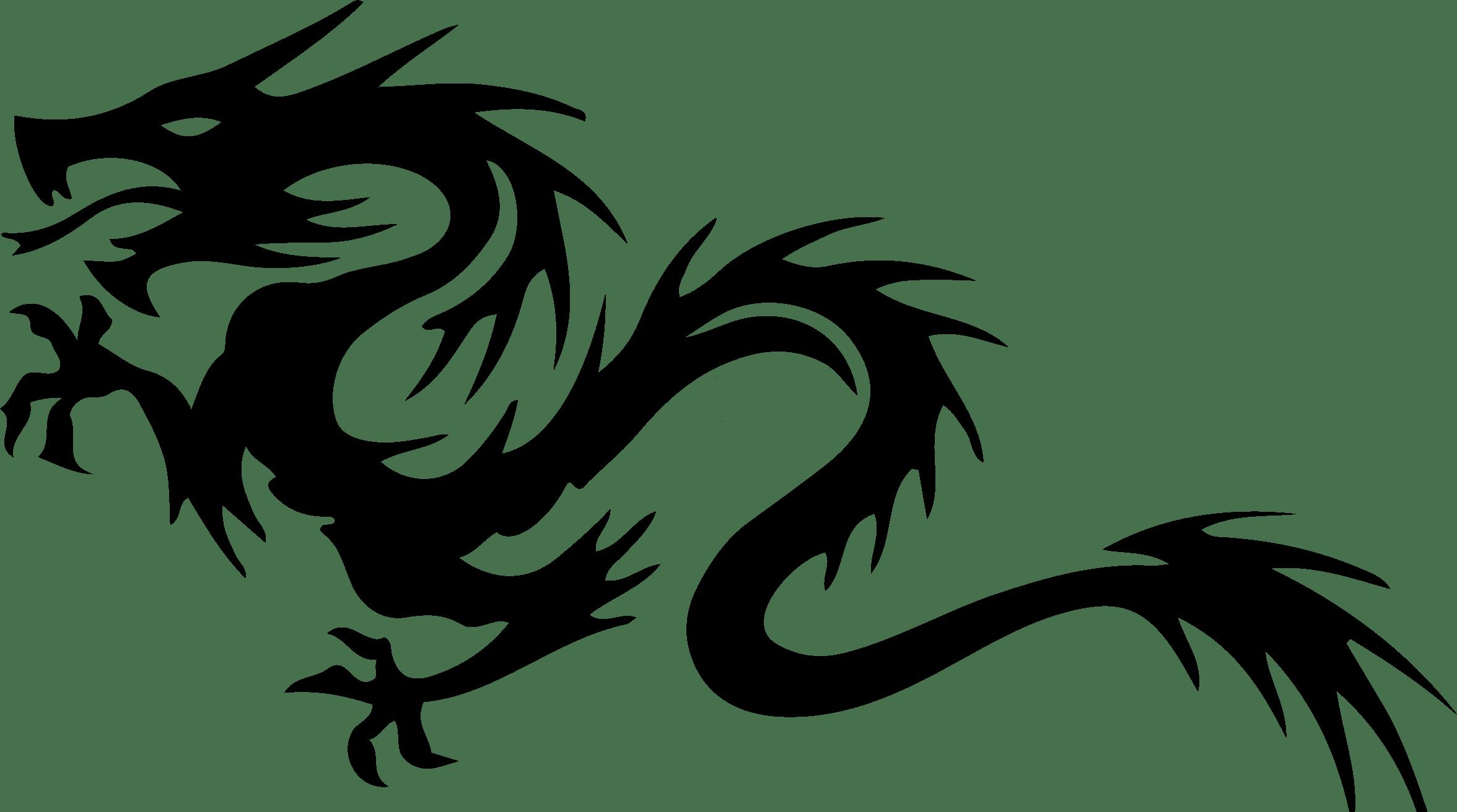 Tribal Dragon Clipart
