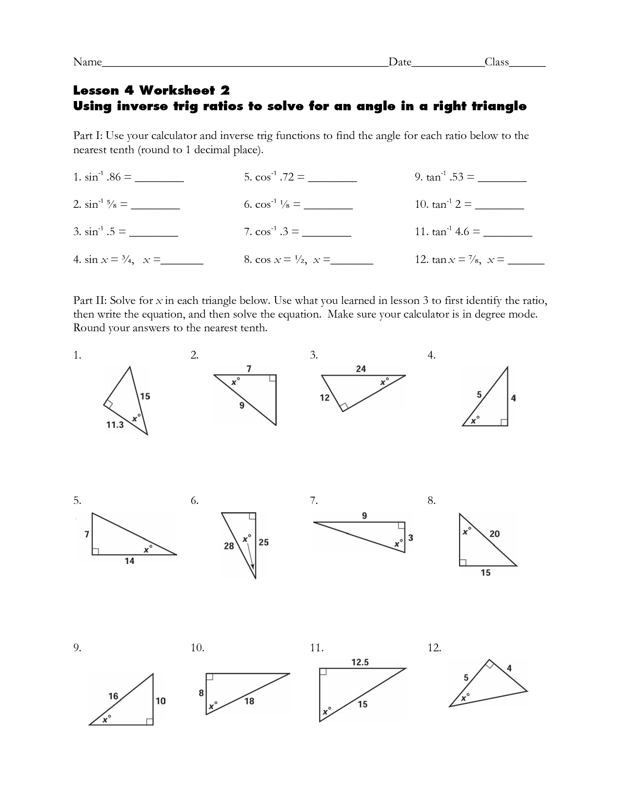 Worksheets Trig Worksheet trig worksheet free worksheets library download and print ometry w ksheets clipground