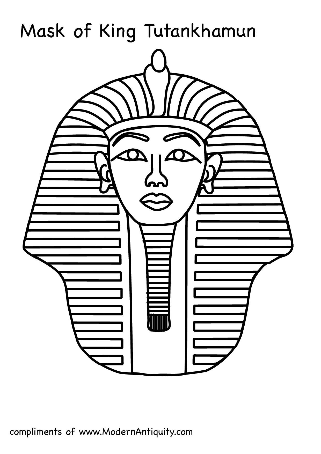 Tutankhanun Mask Clipart
