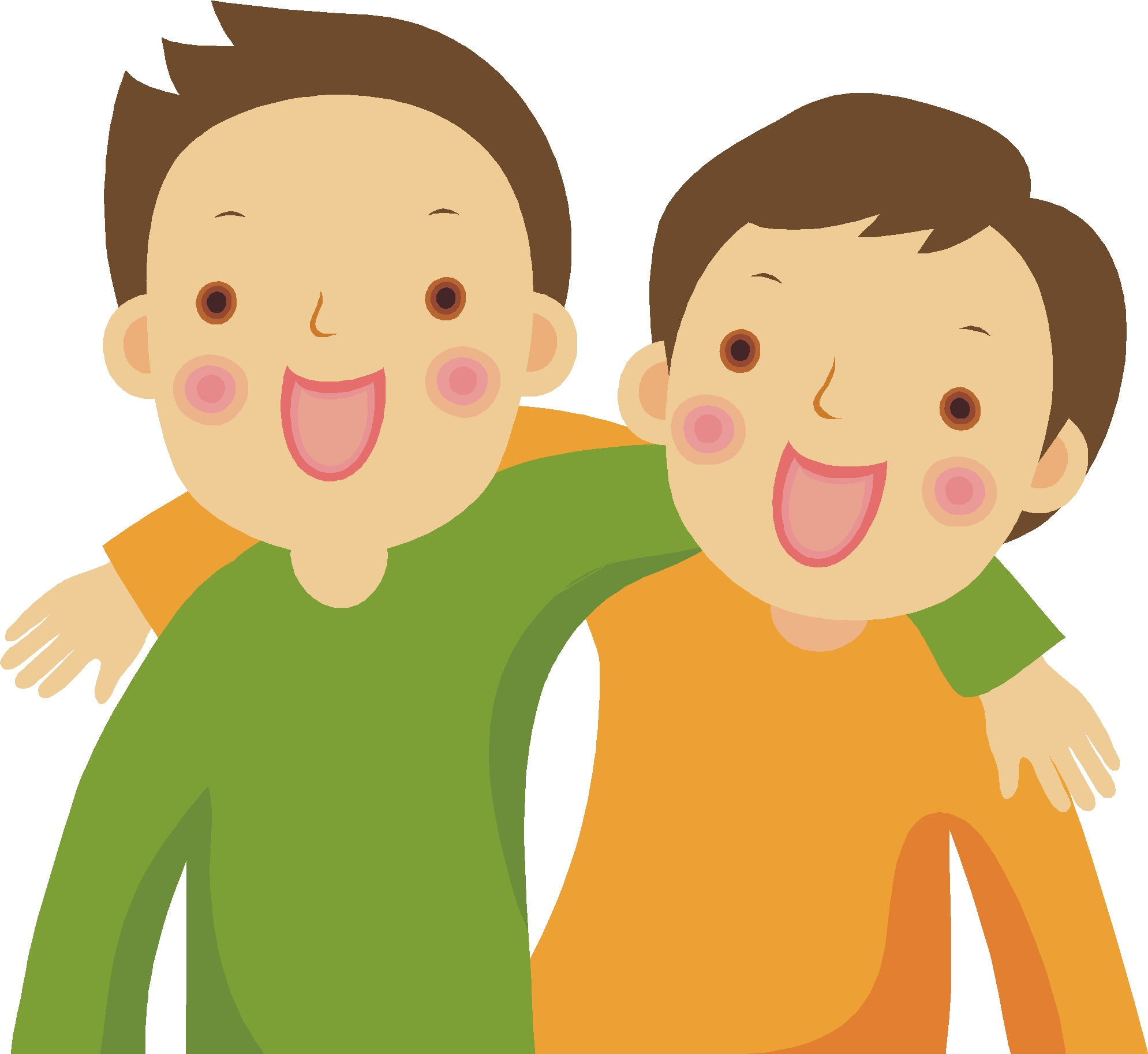 Two Friends Clipart Kids