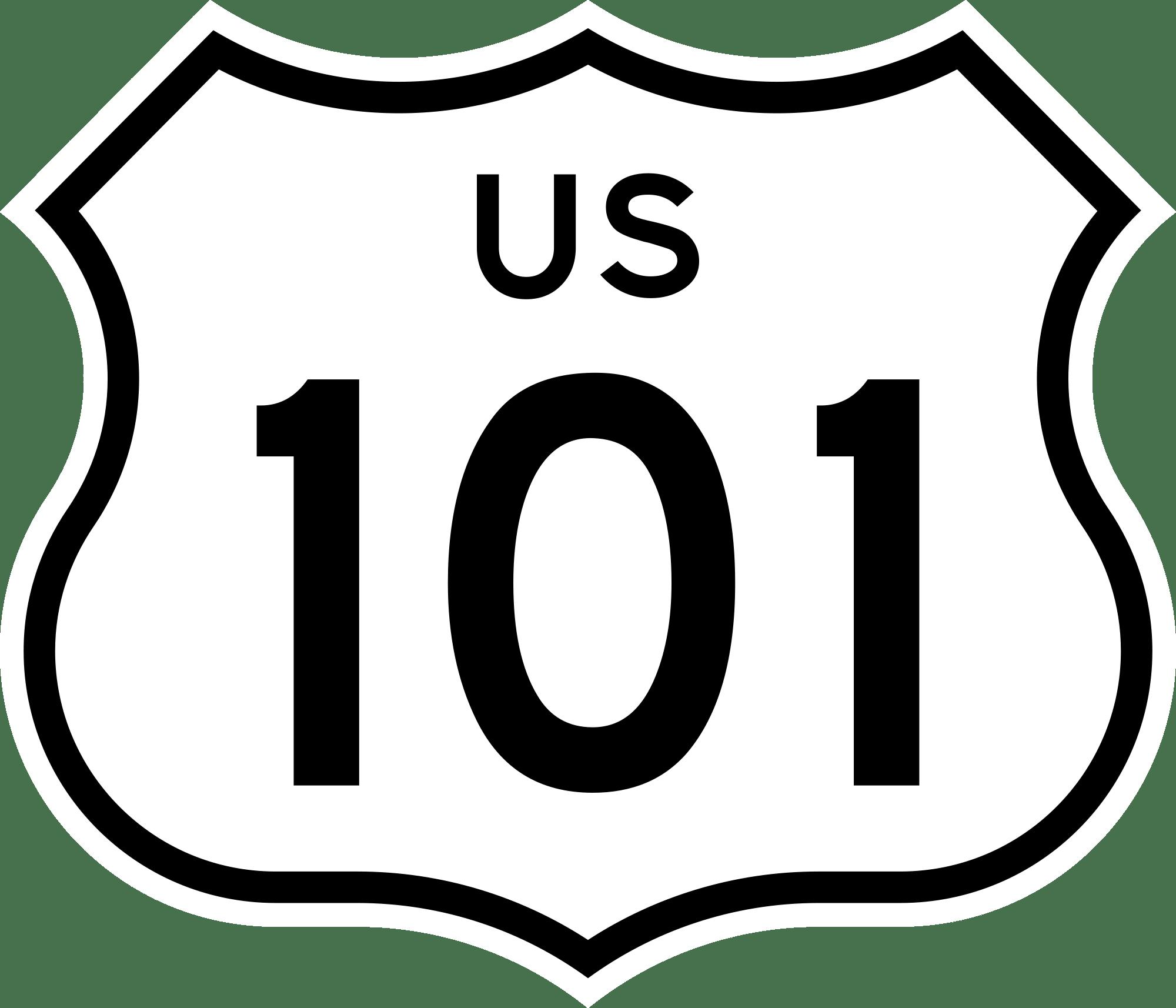 U S Route 101 Clipart