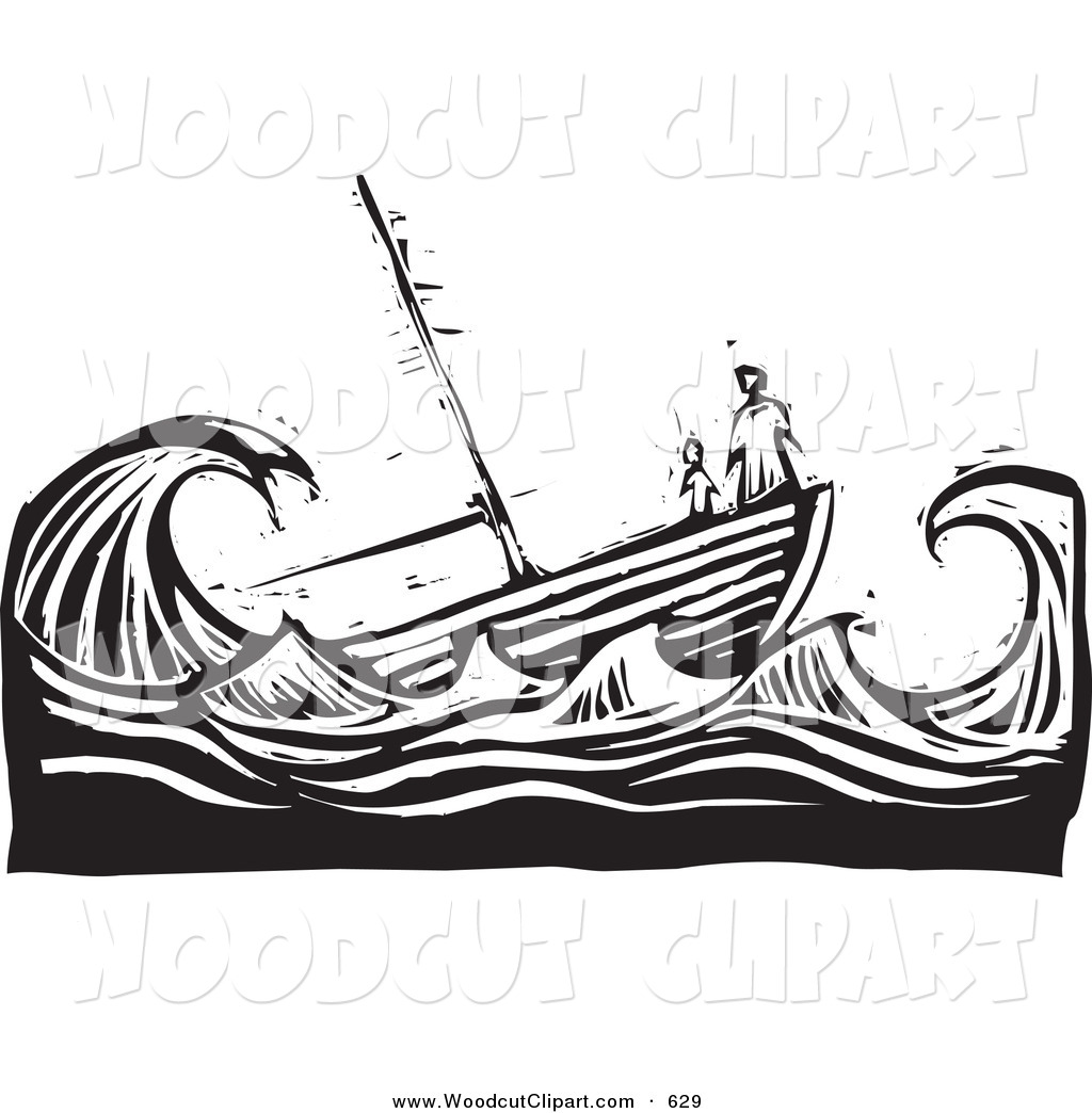 Ship In Water Clipart