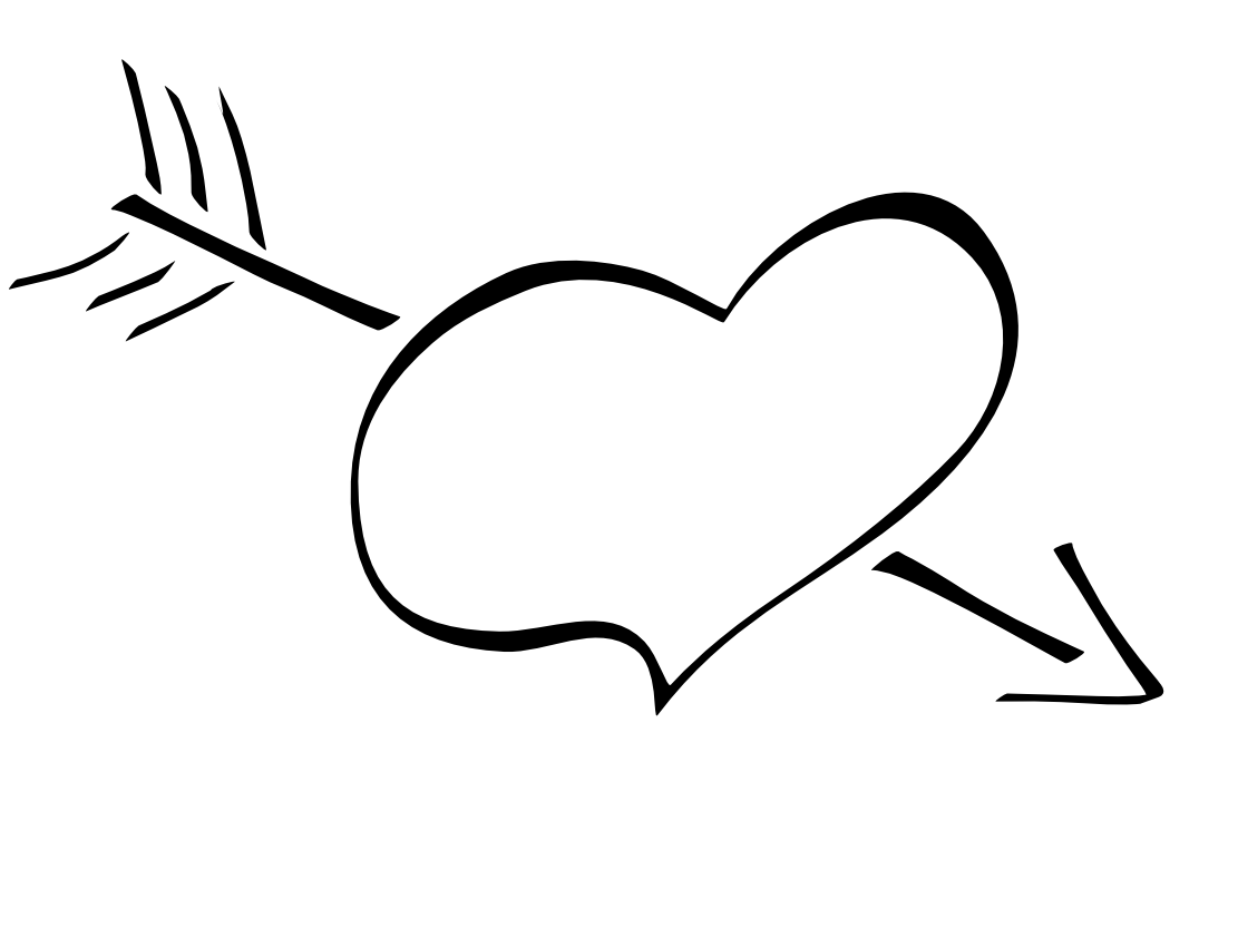 Valentine Heart Clipart Black And White 20 Free Cliparts