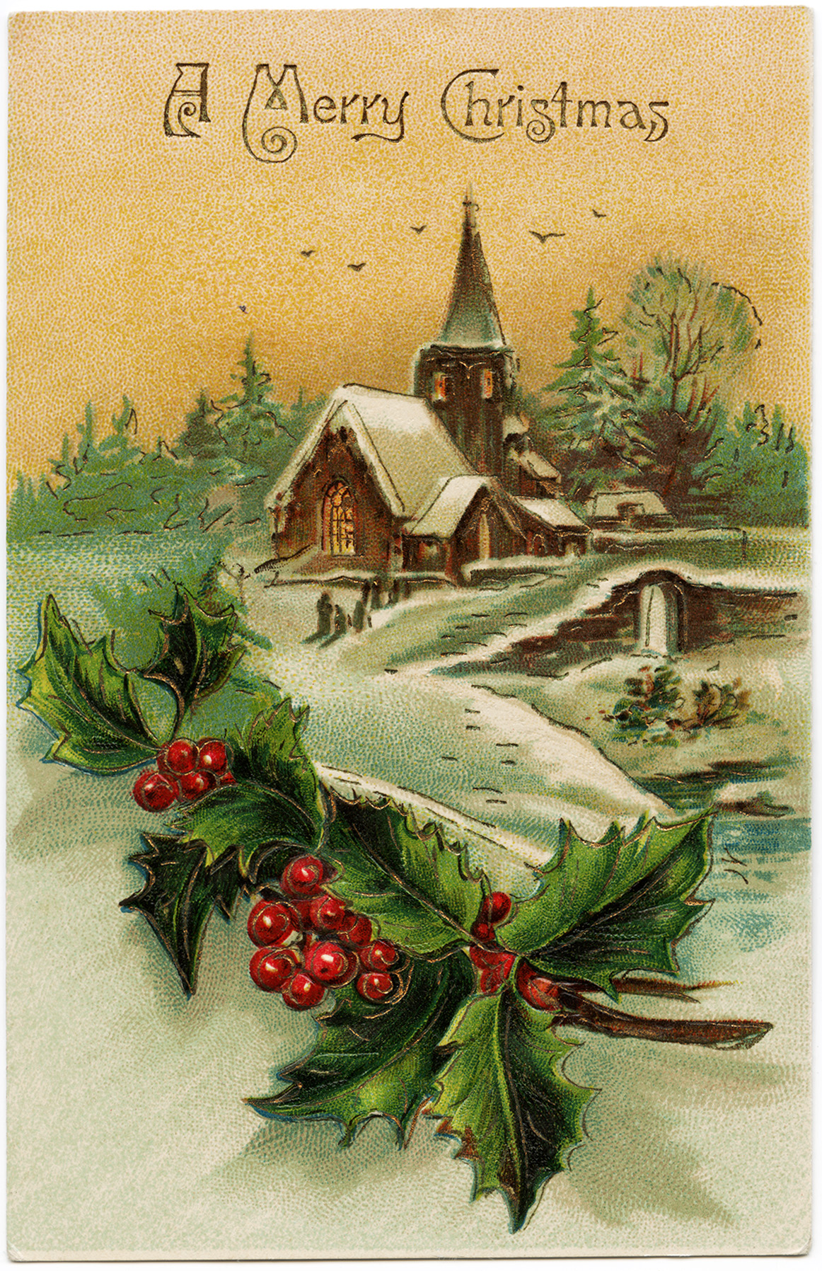 Victorian Christmas Paintings