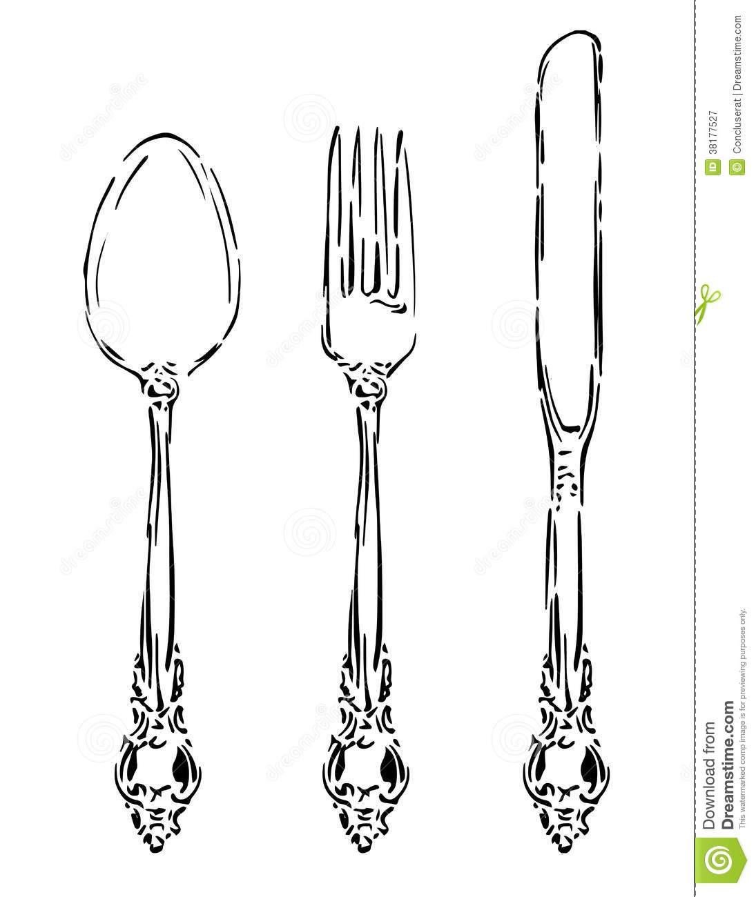 Vintage Cutlery Clip Art 20 Free Cliparts