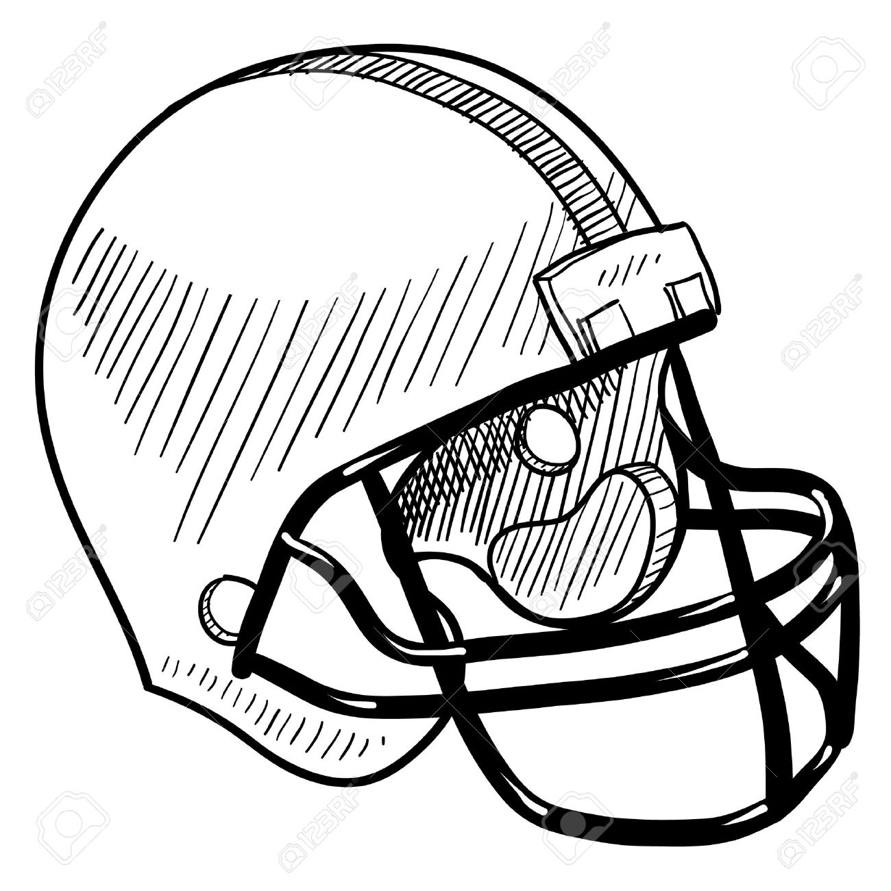 Vintage Football Helmet Clipart