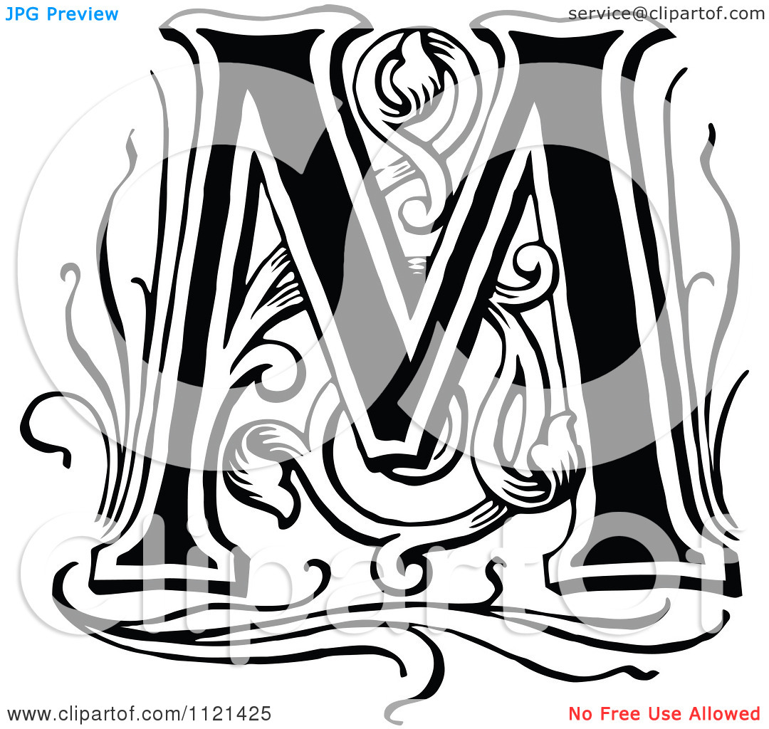 Vintage Letter M Clipart 20 Free Cliparts