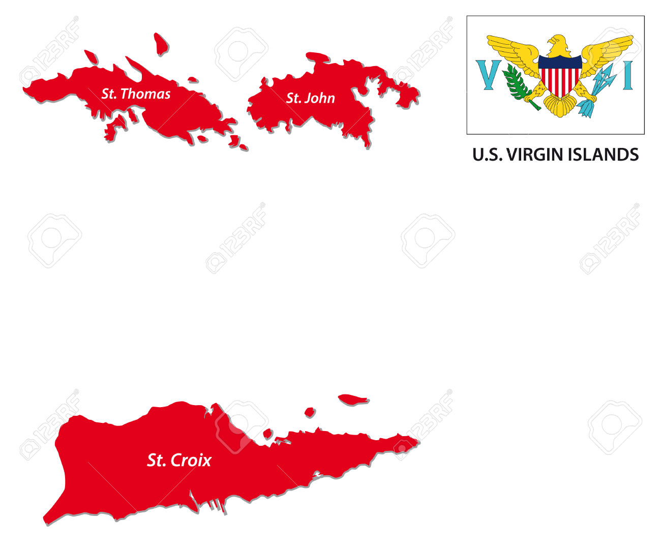 Virgin Islands Us Flag Coloring Pages