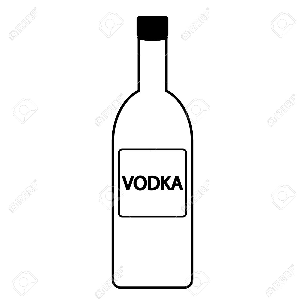 A Bottle Of Vodka Clipart 20 Free Cliparts