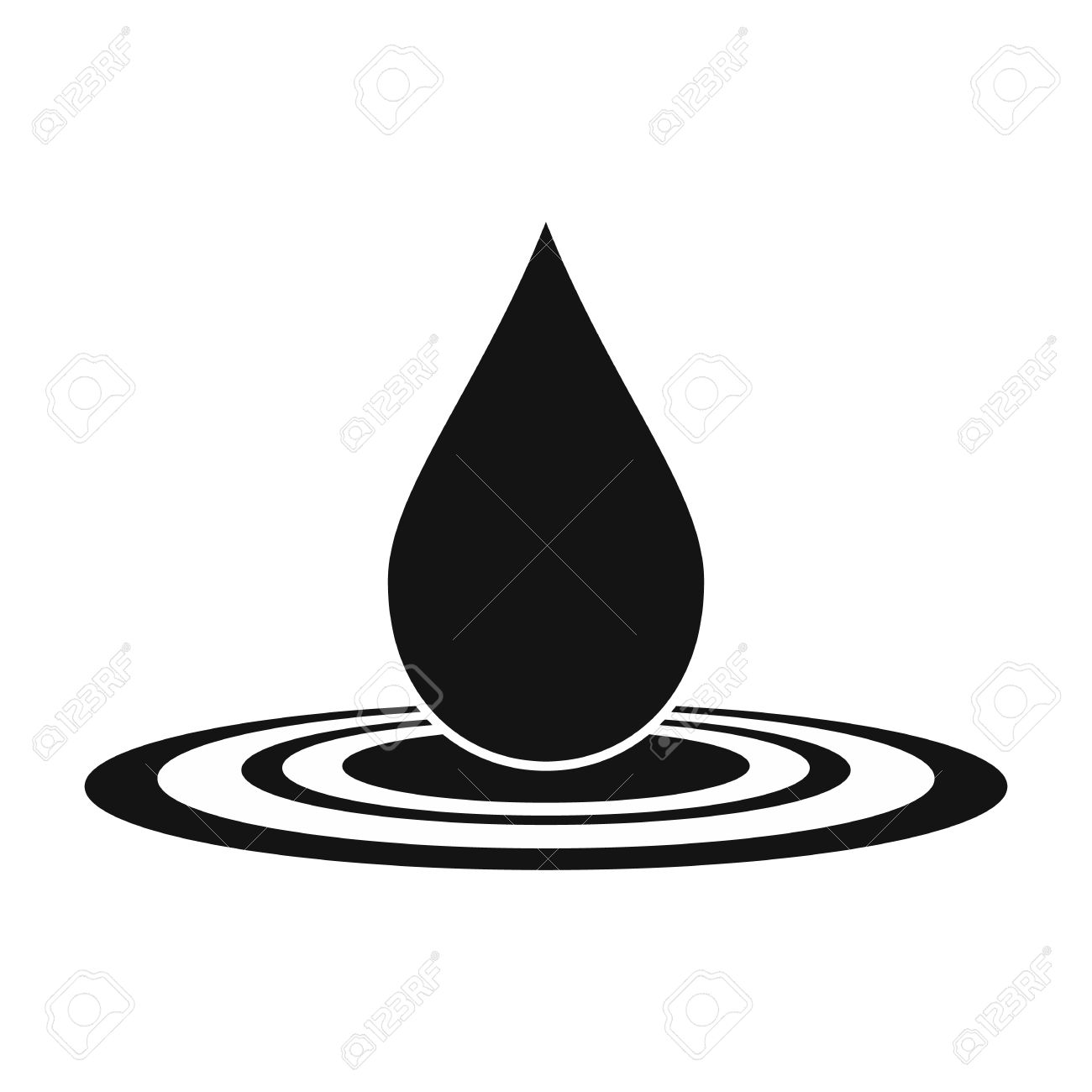 Water Ripples Black And White Clipart