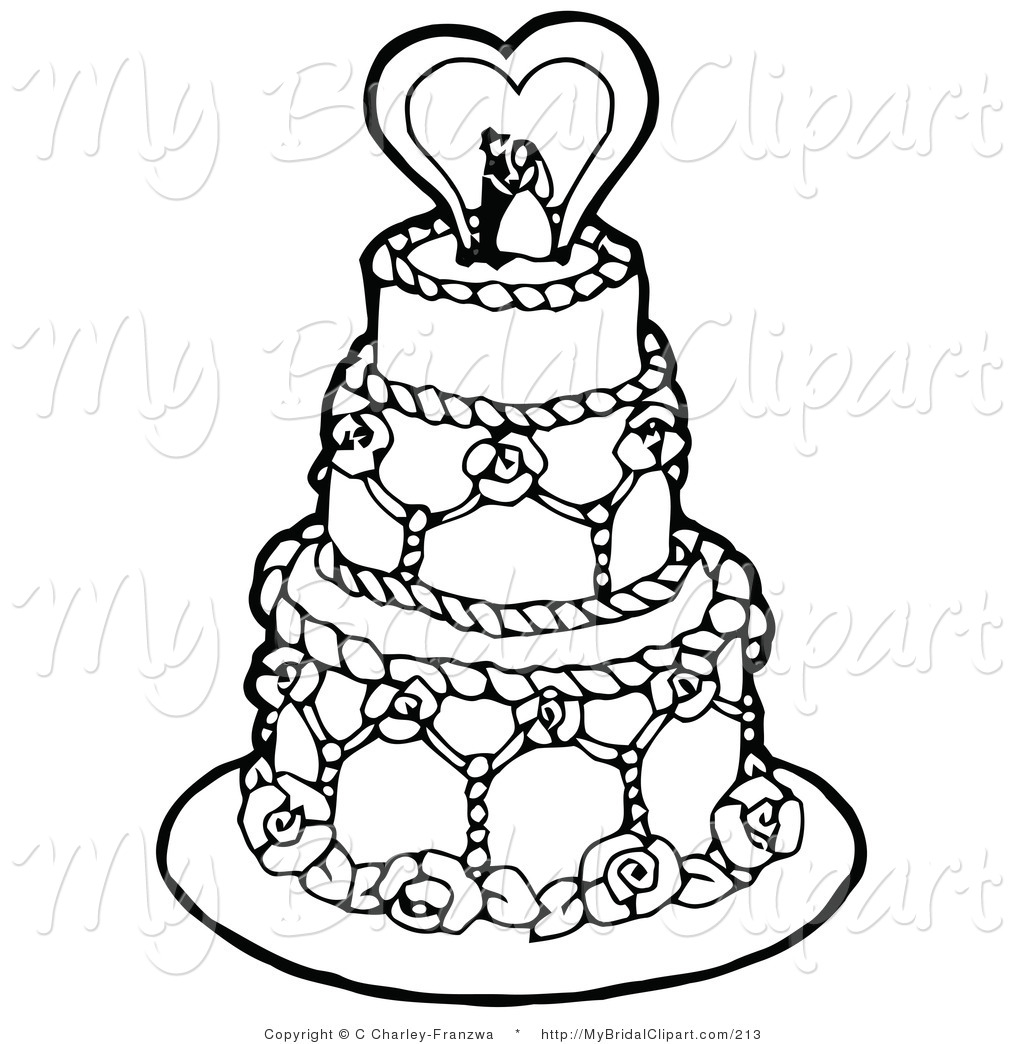 Wedding Cake Toppers Clipart