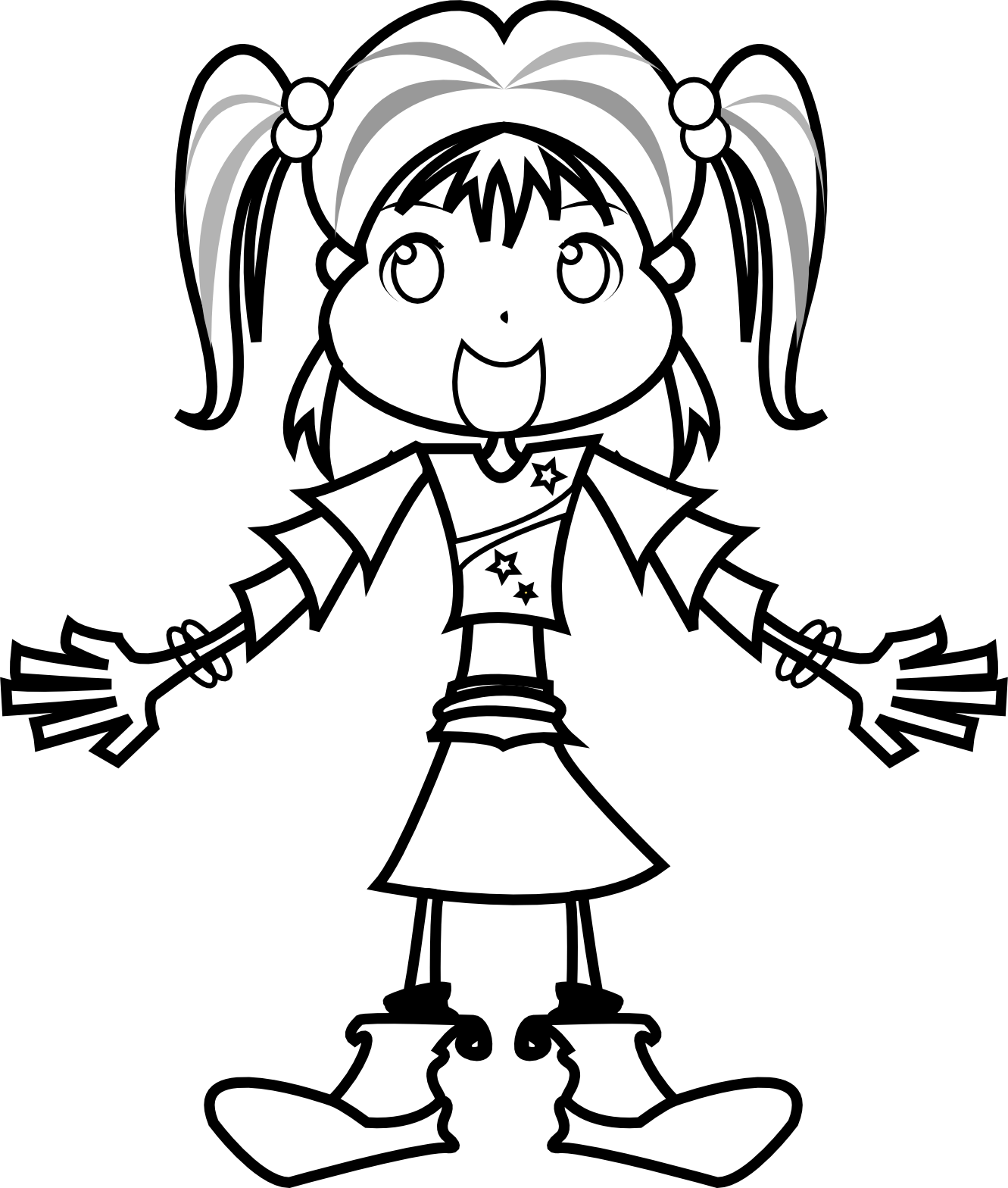 Girl Images Black And White Clipart 20 Free Cliparts
