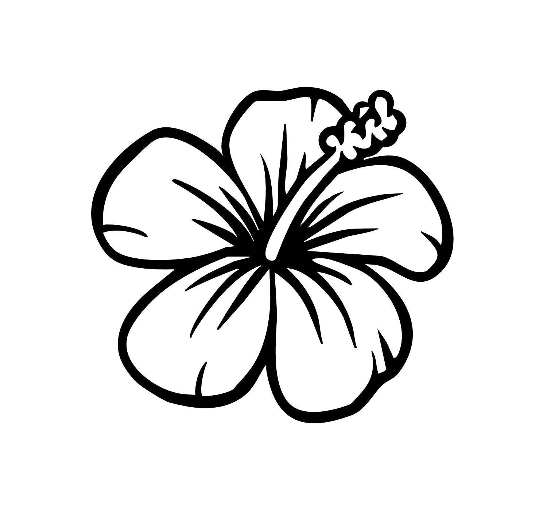 White Hibiscus Clipart