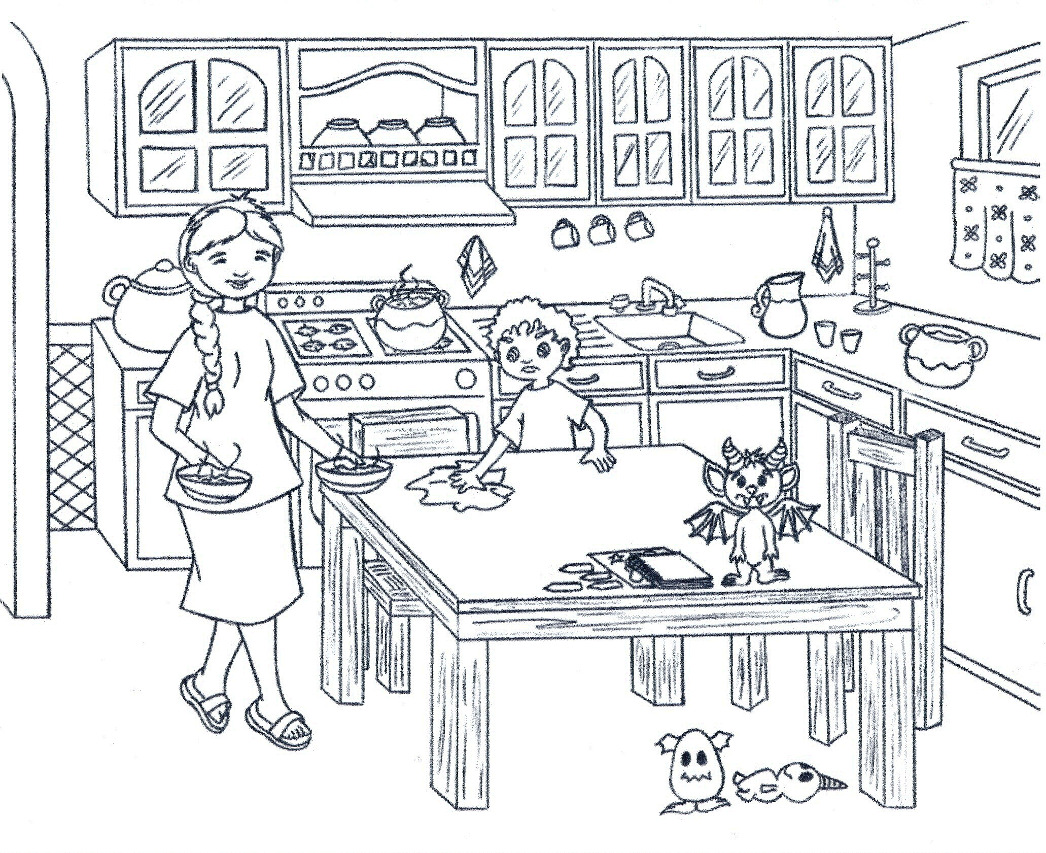Wipe Table Black And White Clipart Clipground