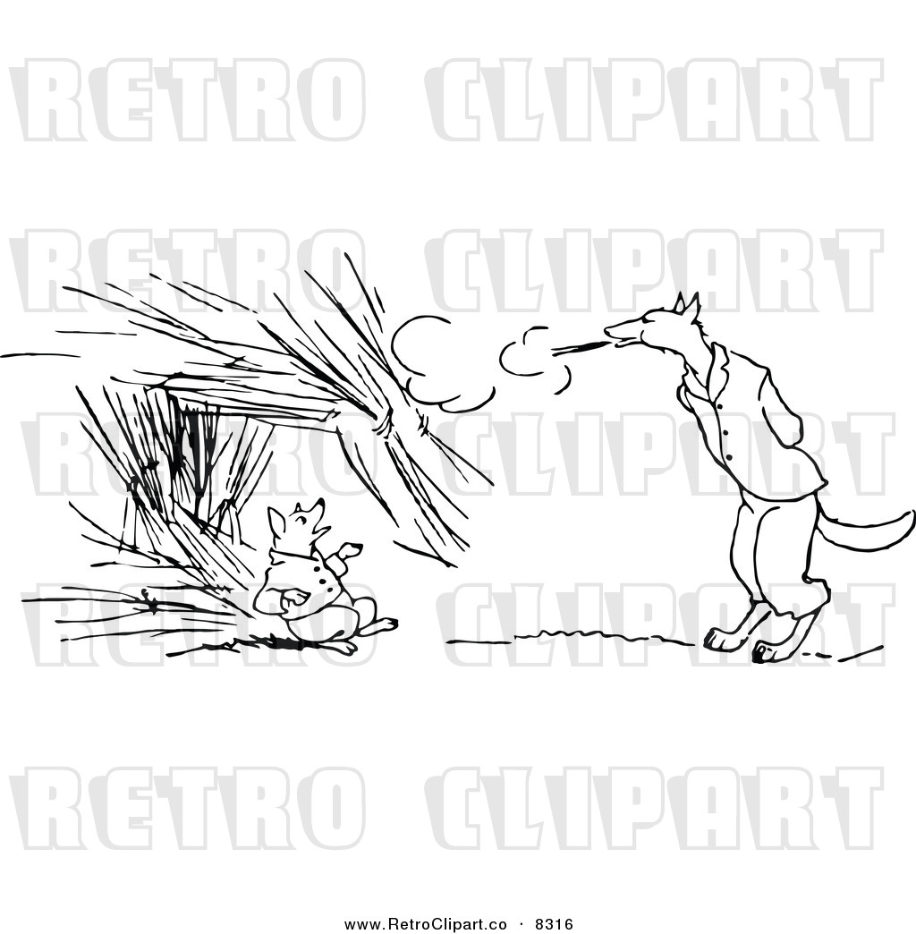 Wolf And Brick House Clipart 20 Free Cliparts