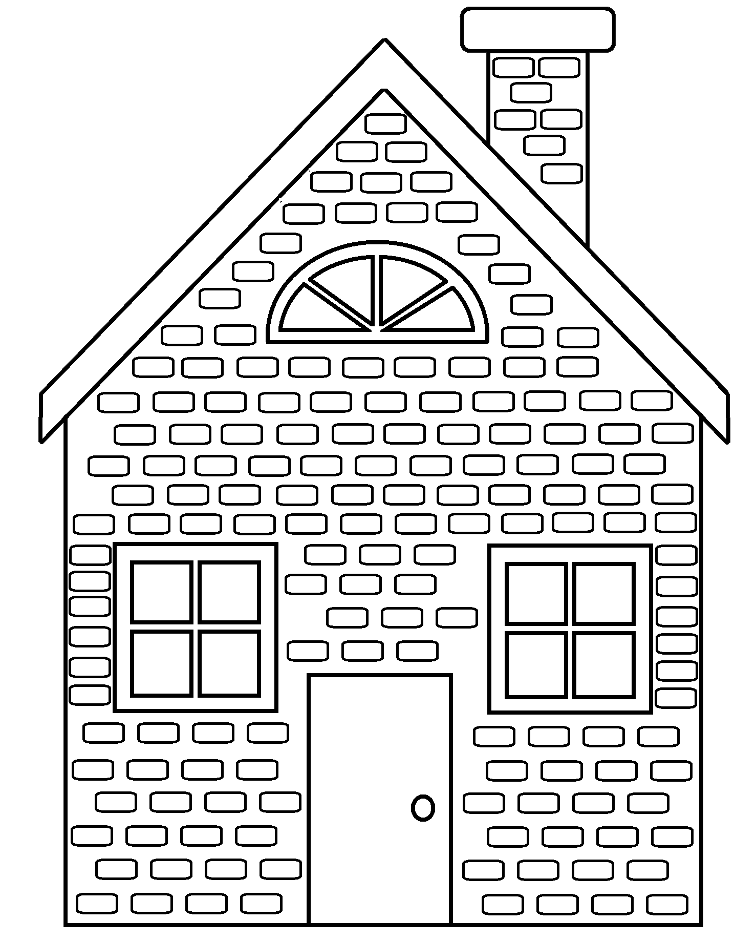 Wolf And Brick House Clipart