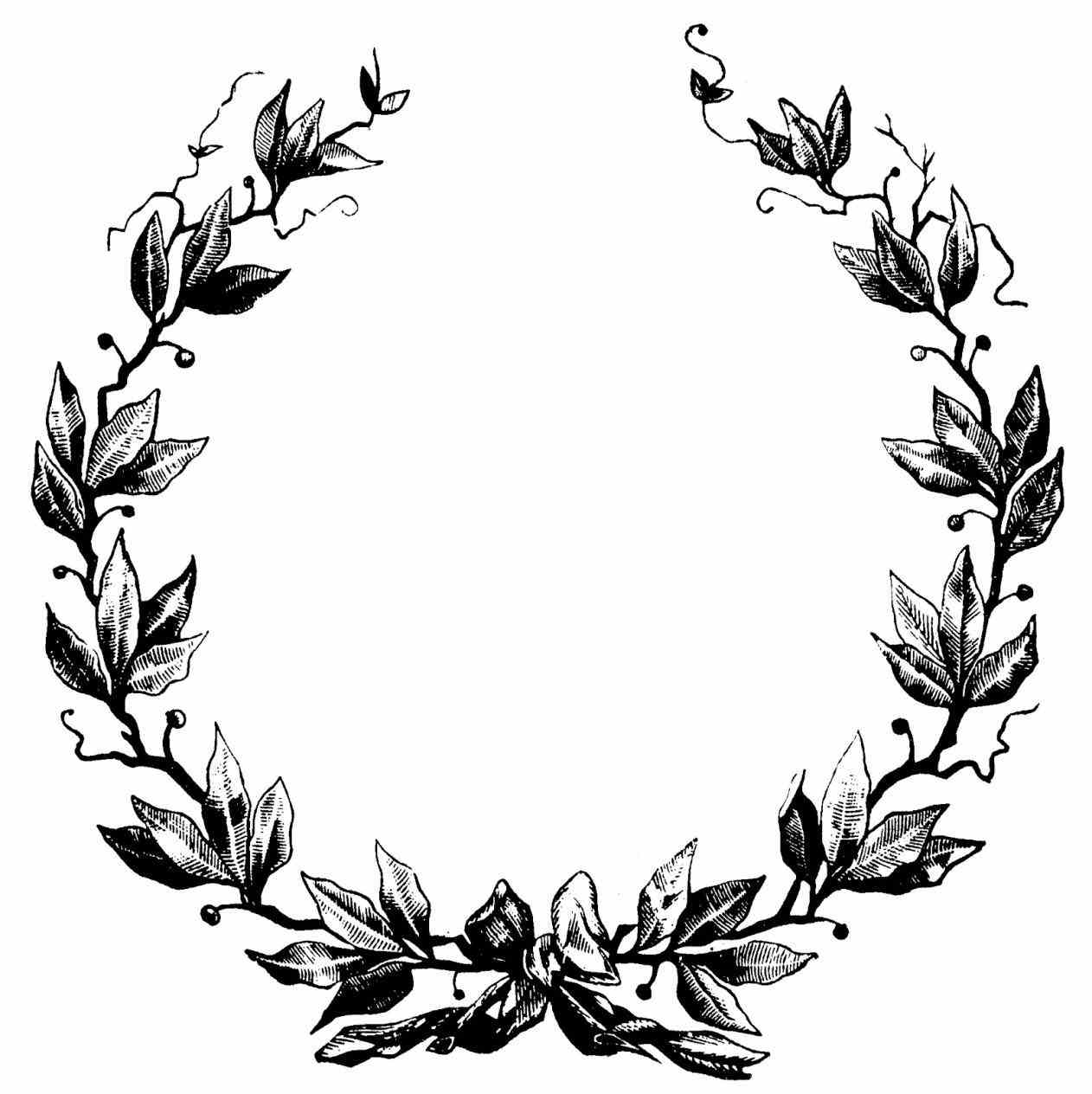 Wreath Tumblr Clipart Black