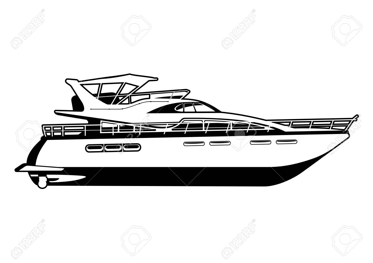 Yacht Clipart Black And White 10 Free Cliparts