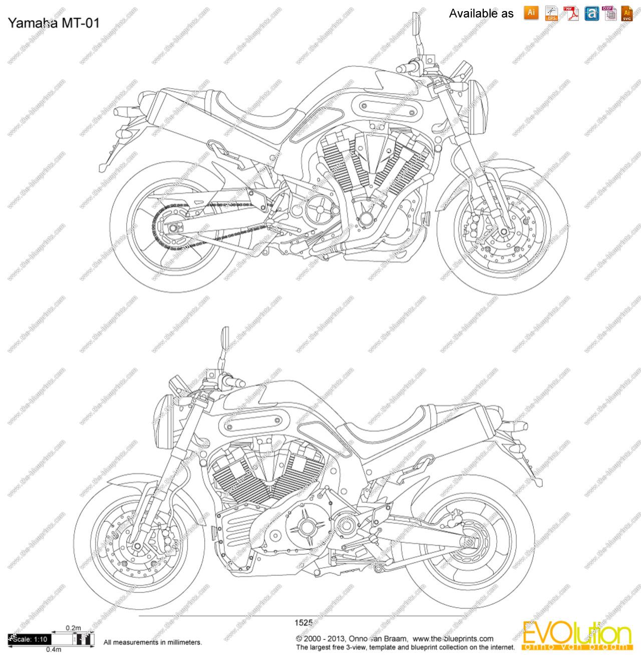 Yamaha Mt 01 Clipart