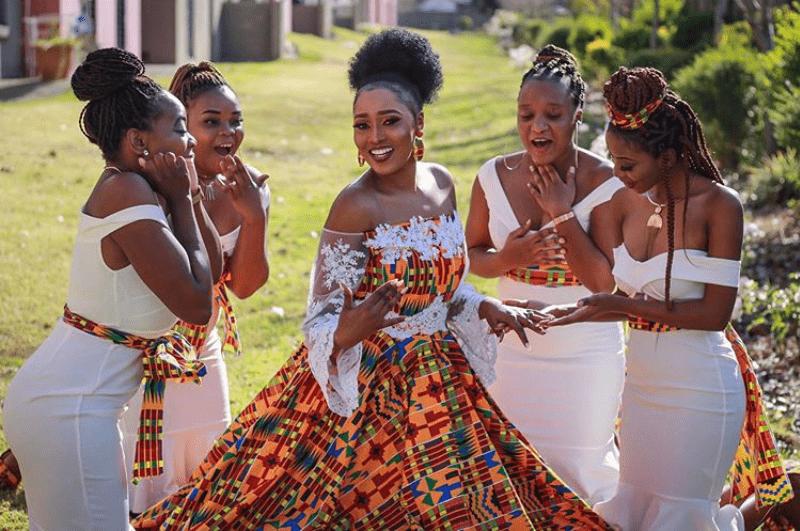 Clipkulture Zimbabwean Bride And Bridesmaids In African Dresses For Roora Clipkulture,Grandmother Bride Dress Wedding Pant Suits For Grandmothers