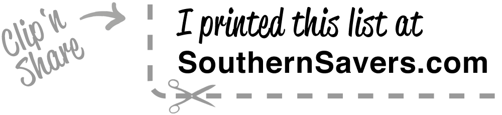 Printed at SouthernSavers.com