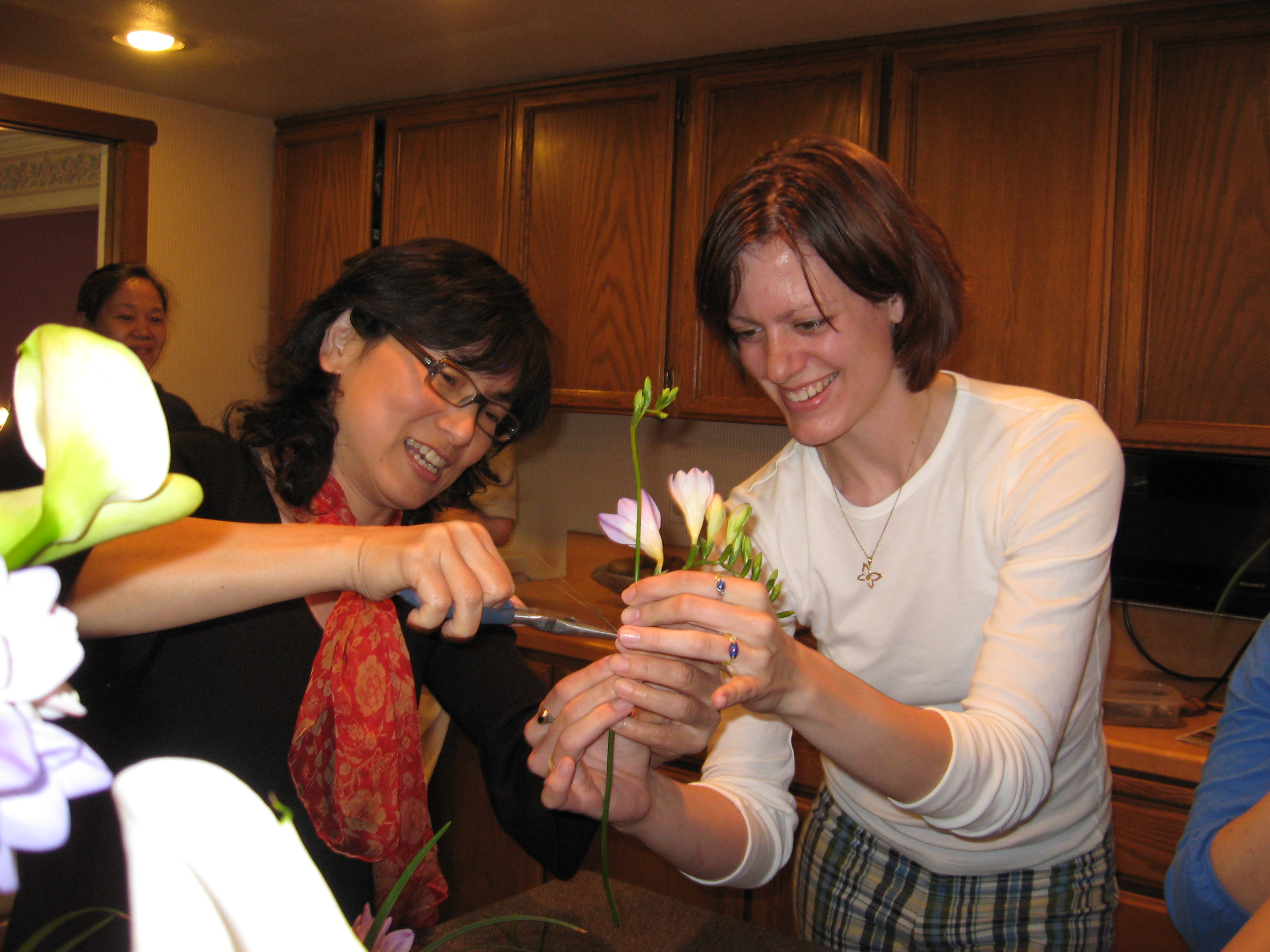 Chinese flower arranging
