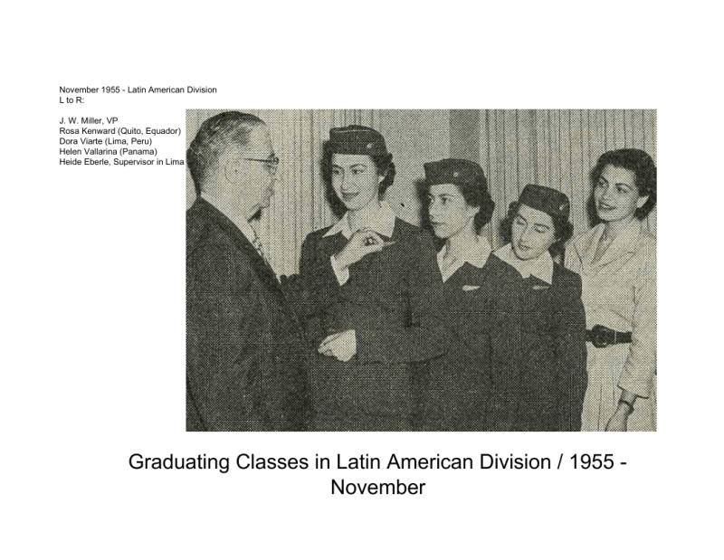 Latin American Division Grad classes