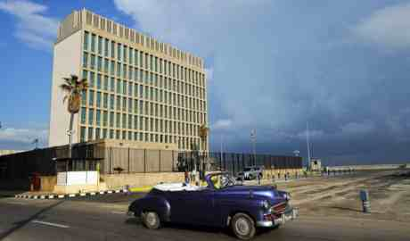 A 2015 photo shows the US embassy in Havana. Photograph: Yamil Lage/AFP/Getty Images