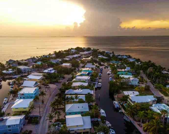 The neighborhood of Stillwright Point in Key Largo, Florida. Photograph: Saul Martinez/The Guardian