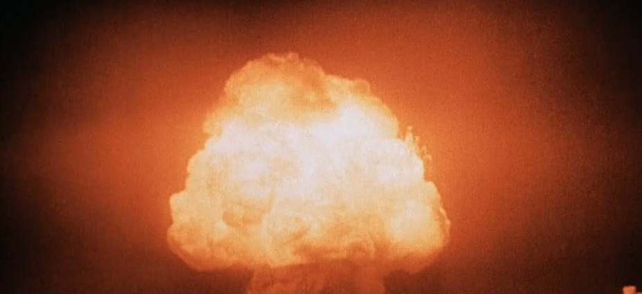 The heat and pressure generated by a nuclear explosion can produce unusual chemical curiosities. United States Department of Energy/wikimedia