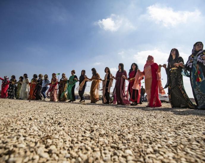 "The anthology celebrates the ""colourful lives"" of Kurdish women, says editor Houzan Mahmoud (AFP/Delil Souleiman)"